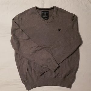 AE Grey V neck sweater